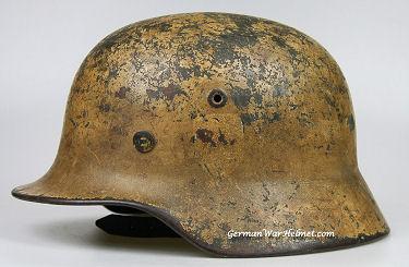 WW2 M40 NS62 German Army DAK Tan Camo Helmets H177