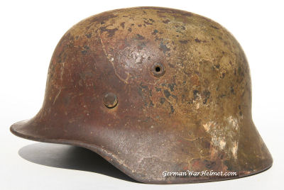 WW2 M40 Q62 German Camo Helmets H164