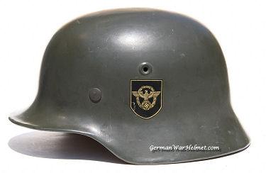 WW2 M40 SE64 German Combat Police Helmets H208