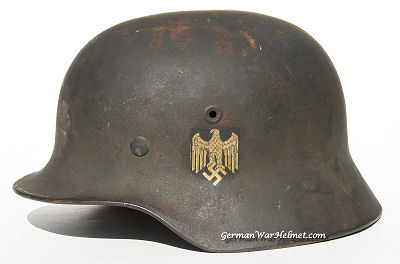 WWII M40 EF64 German Army Helmets H167