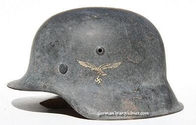 WWII M42 HKP64 German Luftwaffe Helmet H152